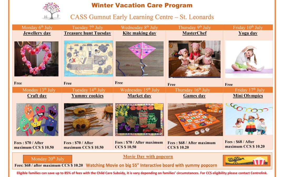 冬季假期托兒服務開始報名啦!