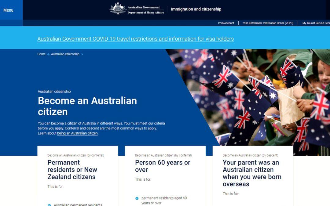 由移民成為澳洲公民 — 記入籍澳洲之路