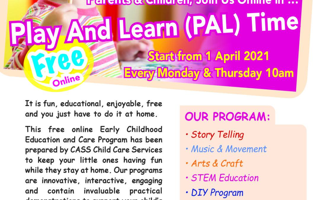 我社托兒服務部組織的「邊玩邊學」免費在線活動,4月1號又開始啦!